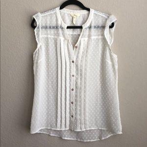 Matilda Jane women's blouse Swiss dot sz medium